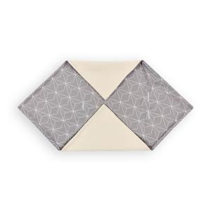 KraftKids Decke für Babyschale Winter weiße dünne Diamante auf Grau