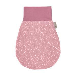 KraftKids Strampelsack Frühling Sommer Musselin rosa Punkte Größe 60 cm (6 bis 12 Monate)