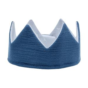 KraftKids Stoffkrone Musselin blau