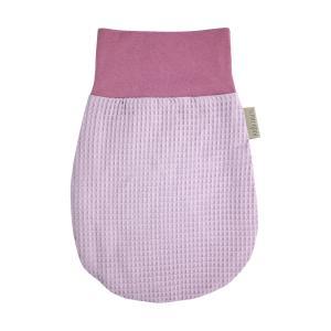 KraftKids Strampelsack Frühling Sommer Waffel Piqué rosa Größe 34 cm (0 bis 6 Monate)
