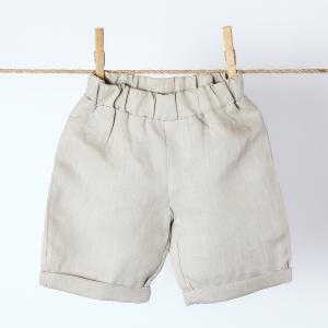 KraftKids Jungen Shorts Leinen Natur Braun