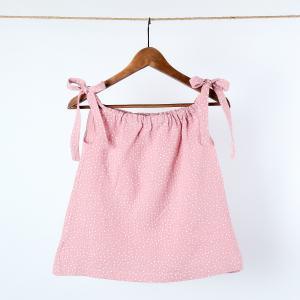 KraftKids Mädchen Kleid Musselin rosa Punkte
