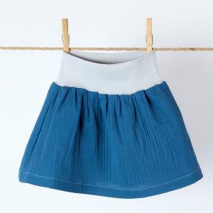 KraftKids Mädchen Rock Musselin blau