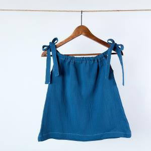 KraftKids Mädchen Kleid Musselin blau