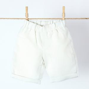 KraftKids Jungen Shorts Leinen leicht grünes Weiß