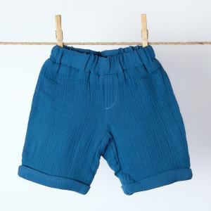 KraftKids Jungen Shorts Musselin blau