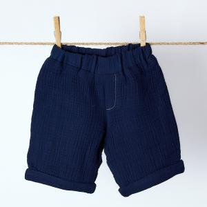 KraftKids Jungen Shorts Musselin dunkelblau