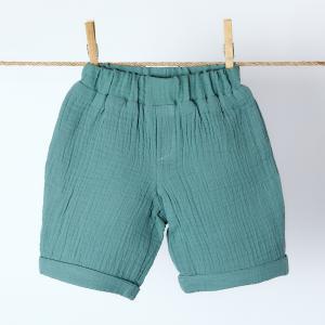 KraftKids Jungen Shorts Musselin nilblau