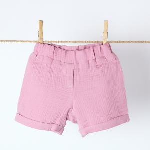 KraftKids Mädchen Shorts Musselin rosa