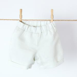 KraftKids Mädchen Shorts Leinen leicht grünes Weiß