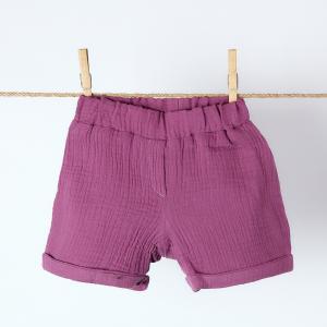 KraftKids Mädchen Shorts Musselin purpur
