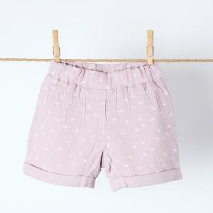 KraftKids Mädchen Shorts Musselin rosa Pusteblumen