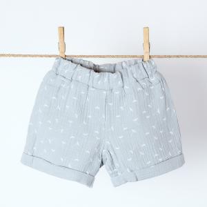 KraftKids Mädchen Shorts Musselin grau Pusteblumen