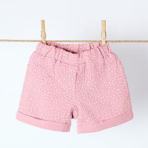 KraftKids Mädchen Shorts Musselin rosa Punkte