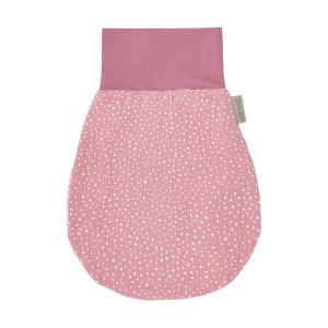 KraftKids Strampelsack Frühling Sommer Musselin rosa Punkte Größe 80 cm (12 bis 18 Monate)