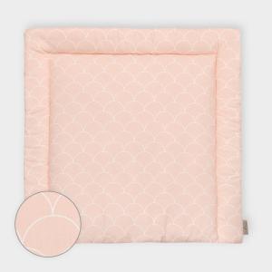 KraftKids Wickelauflage weiße Halbkreise auf Pastelrosa breit 75 x tief 70 cm