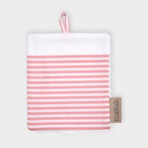 KraftKids Waschlappen Streifen rosa