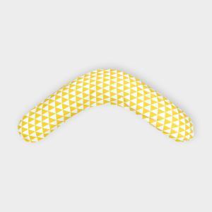 KraftKids qualitäts Stillkissen gelbe Dreiecke mit Micro-EPS-Perlen mit TOXPROOF-ZERTIFIKAT des TÜV-Rheinland