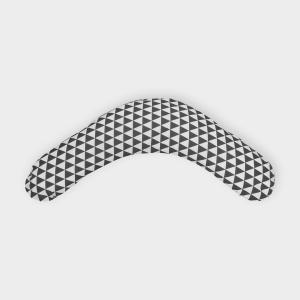 KraftKids qualitäts Stillkissen schwarze Dreiecke mit Micro-EPS-Perlen mit TOXPROOF-ZERTIFIKAT des TÜV-Rheinland