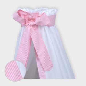 miniFifia Betthimmel Streifen rosa