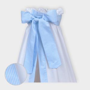miniFifia Betthimmel Streifen hellblau dünn