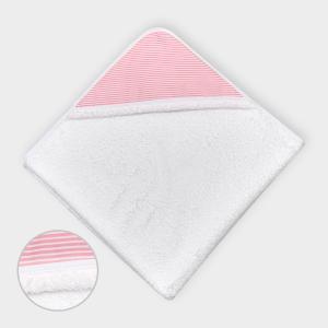 miniFifia Kapuzenhandtuch Streifen rosa