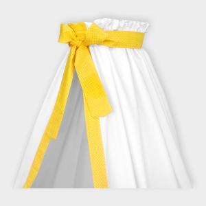 KraftKids Betthimmel weiße Punkte auf Gelb