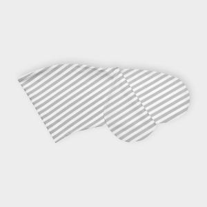 KraftKids Stillkissenbezug dicke Streifen grau