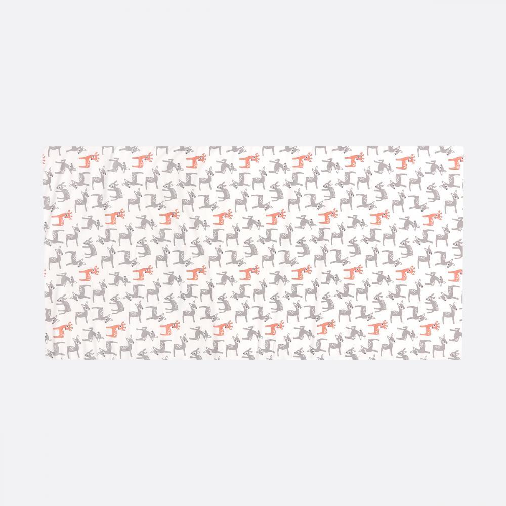 KraftKids Turnmatte kleine Rehkitze grau orange auf Weiß