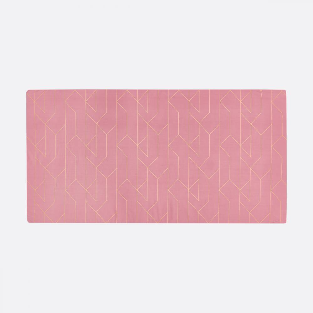 KraftKids Turnmatte goldene Linien auf Rosa