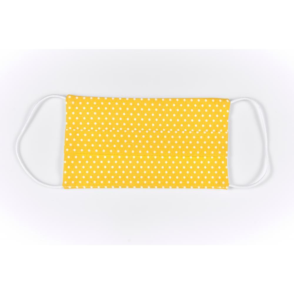 KraftKids Gesichtsmaske weiße Punkte auf Gelb