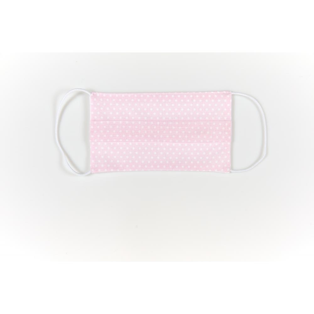 KraftKids Gesichtsmaske weiße Punkte auf Rosa