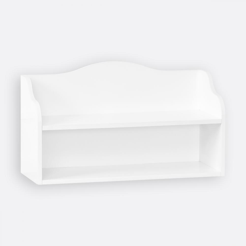 KraftKids Kindersitzbank weiß mit Sitzauflage und drei Körben