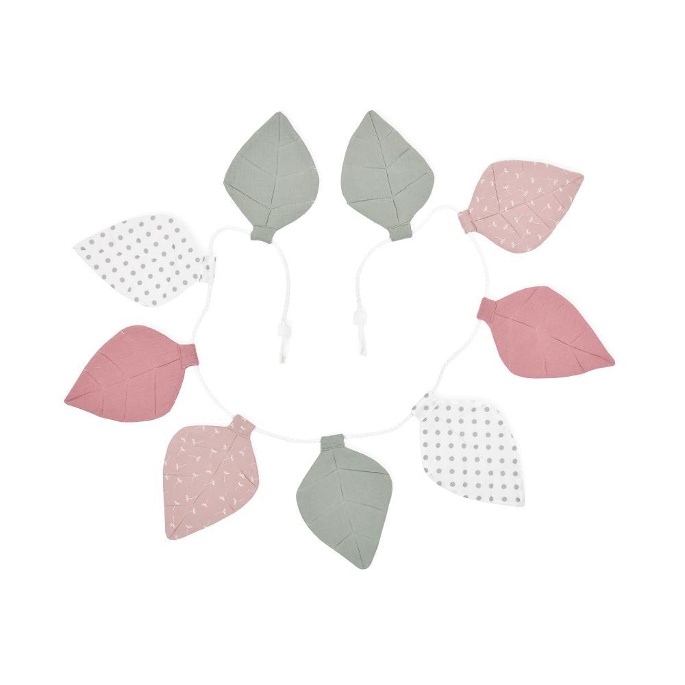 KraftKids Wimpelkette Musselin rosa mint graue Punkte auf Weiß