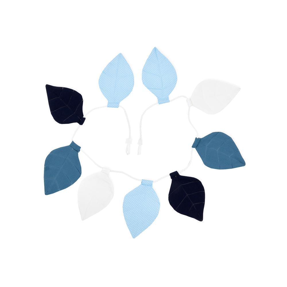 KraftKids Wimpelkette Musselin blau dunkelblau weiß