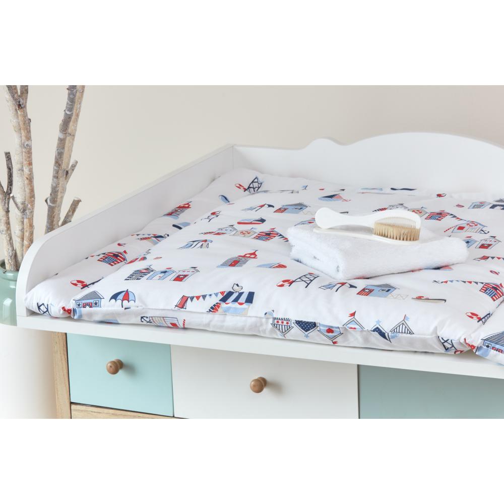 KraftKids Wickelauflage Strandhäuschen breit 60 x tief 70 cm passend für Waschmaschinen-Aufsatz von KraftKids