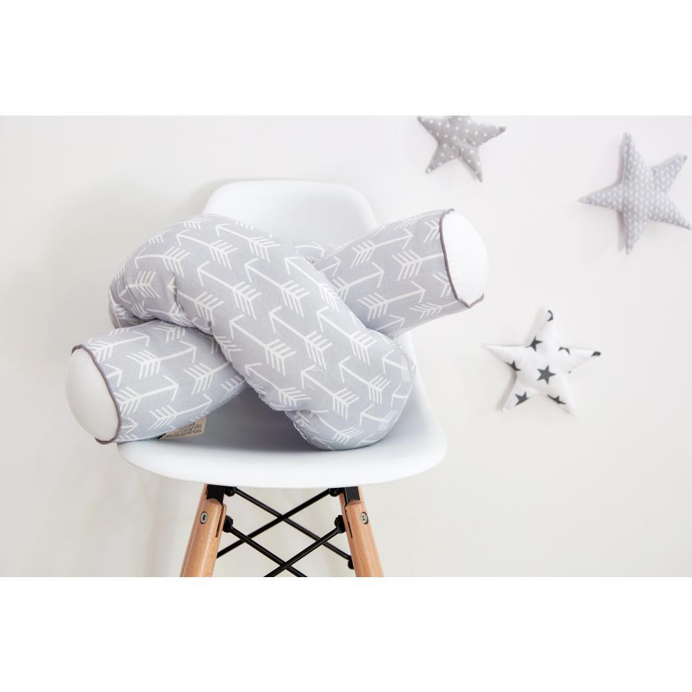 KraftKids Bettrolle weiße Pfeile auf Grau Stärke: 10 cm, Rollenlänge 140 cm