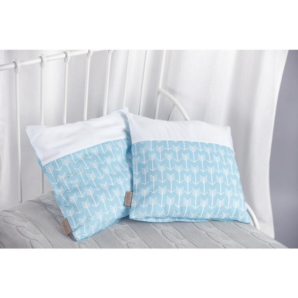 KraftKids Kissenbezug weiße Pfeile auf Blau