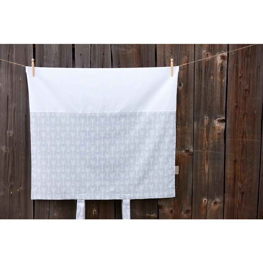 KraftKids Bezug für Wickeltischauflage weiße Pfeile auf Grau