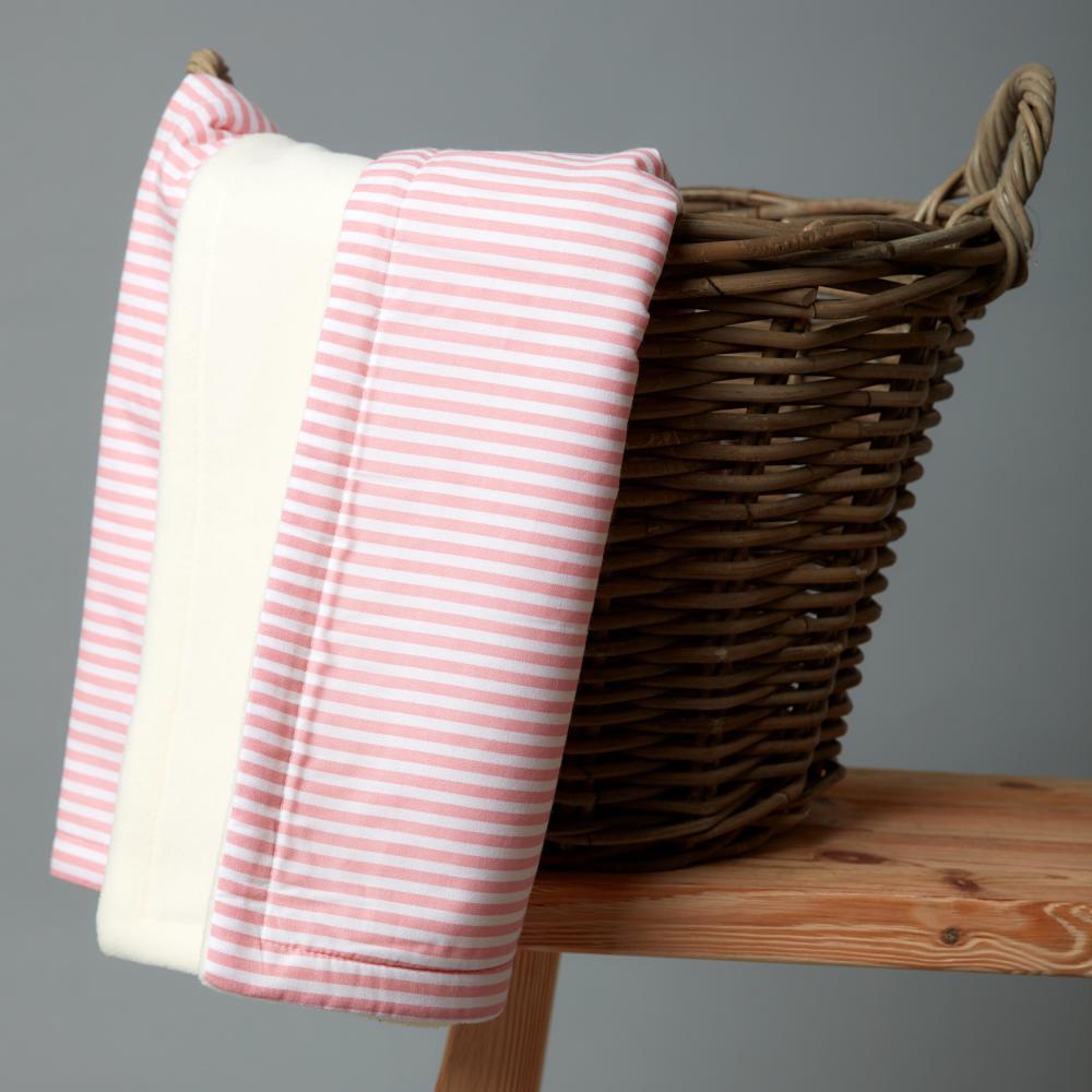 KraftKids Babydecke Streifen rosa