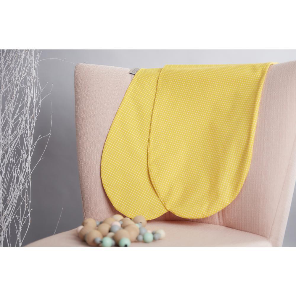 KraftKids Stillkissenbezug weiße Punkte auf Gelb