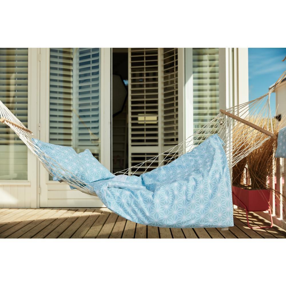 KraftKids Bettwäscheset weiße Diamante auf Pastel Blau 140 x 200 cm, Kissen 80 x 80 cm