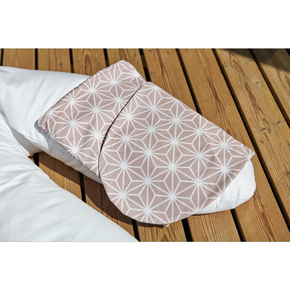 KraftKids Stillkissenbezug weiße Diamante auf Cameo Rosa