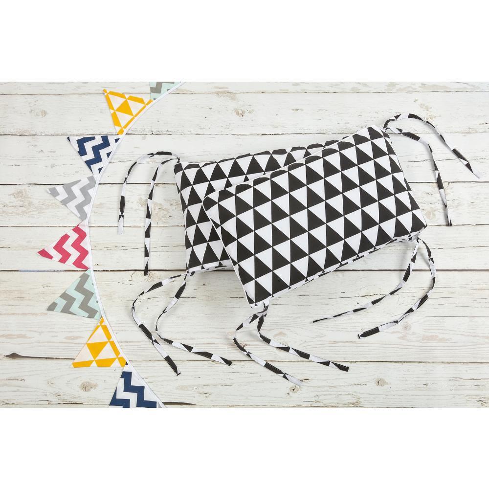 KraftKids Nestchen schwarze Dreiecke Nestchenlänge 60-60-60 cm für Bettgröße 120 x 60 cm