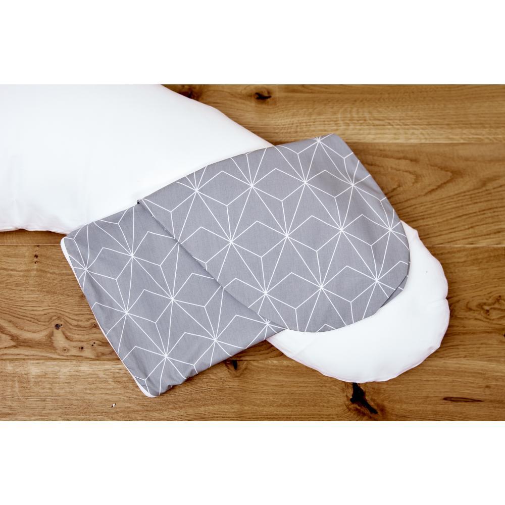 KraftKids Stillkissenbezug weiße dünne Diamante auf Grau