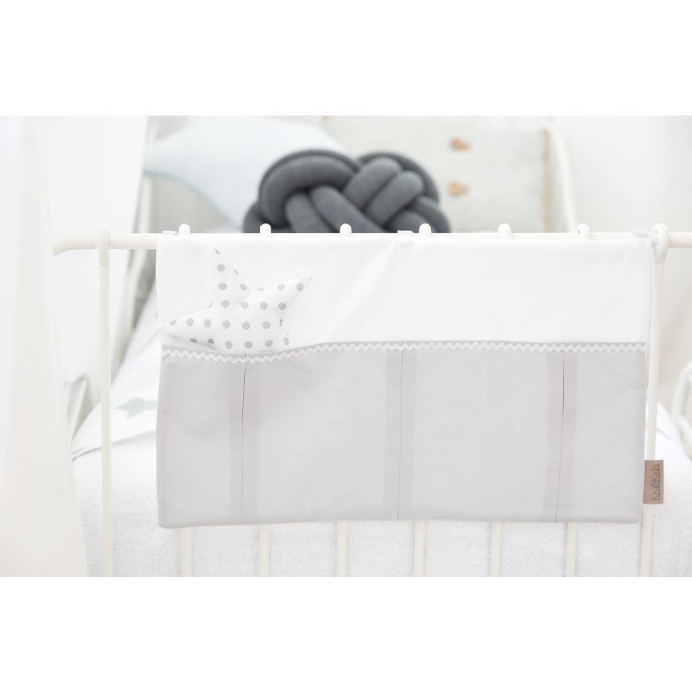 KraftKids Betttasche Uniweiss und Unigrau