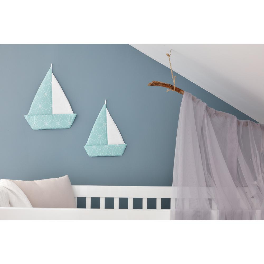 KraftKids Segelboot weiße dünne Diamante auf Mint