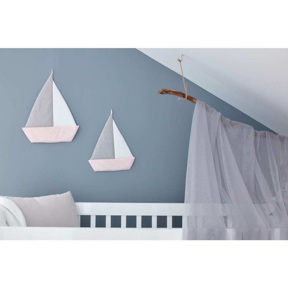 KraftKids Segelboot weiße Halbkreise auf Pastelrosa
