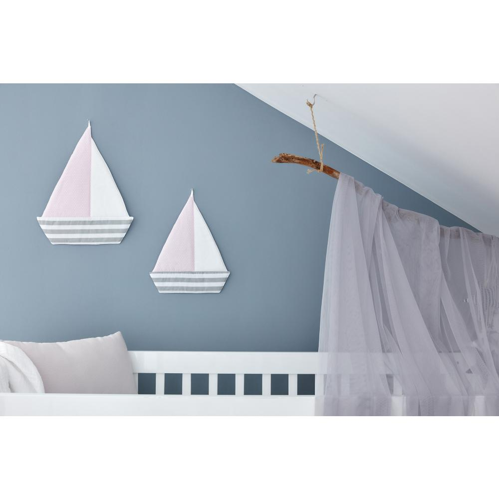 KraftKids Segelboot dicke Streifen grau