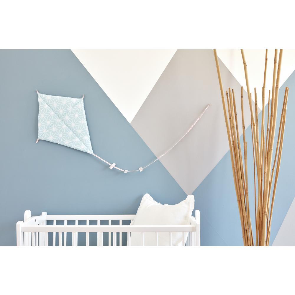 KraftKids Dekoration Luftdrache weiße Diamante auf Pastel Blau